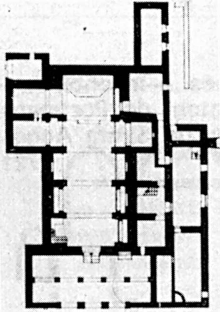 Arquitectura. Planta de l´església de Sant Mateu d´Albarca.