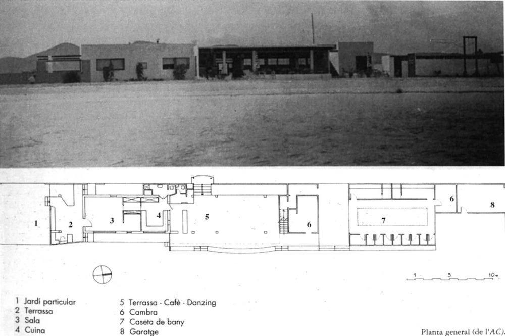 Arquitectura. Un projecte d´Erwin Broner: casa de banys a Talamanca (1934), avui desapareguda. Extret de <em>D´A </em>11/12.