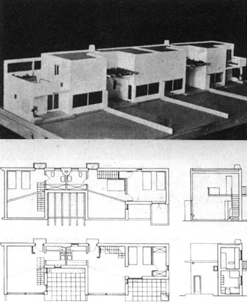Arquitectura. Un altre projecte d´Erwin Broner: habitatges per a una platja d´Eivissa (1936). Extret de <em>D´A </em>11/12.