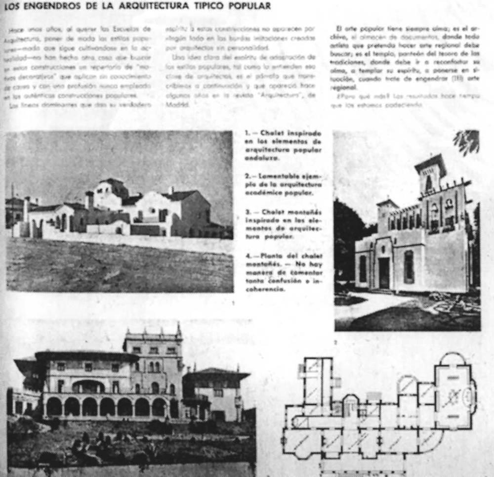 Crítiques de la revista <em>AC</em> a l´arquitectura tipicopopular. Extret d´<em>AC</em> GATEPAC 1931-1937.