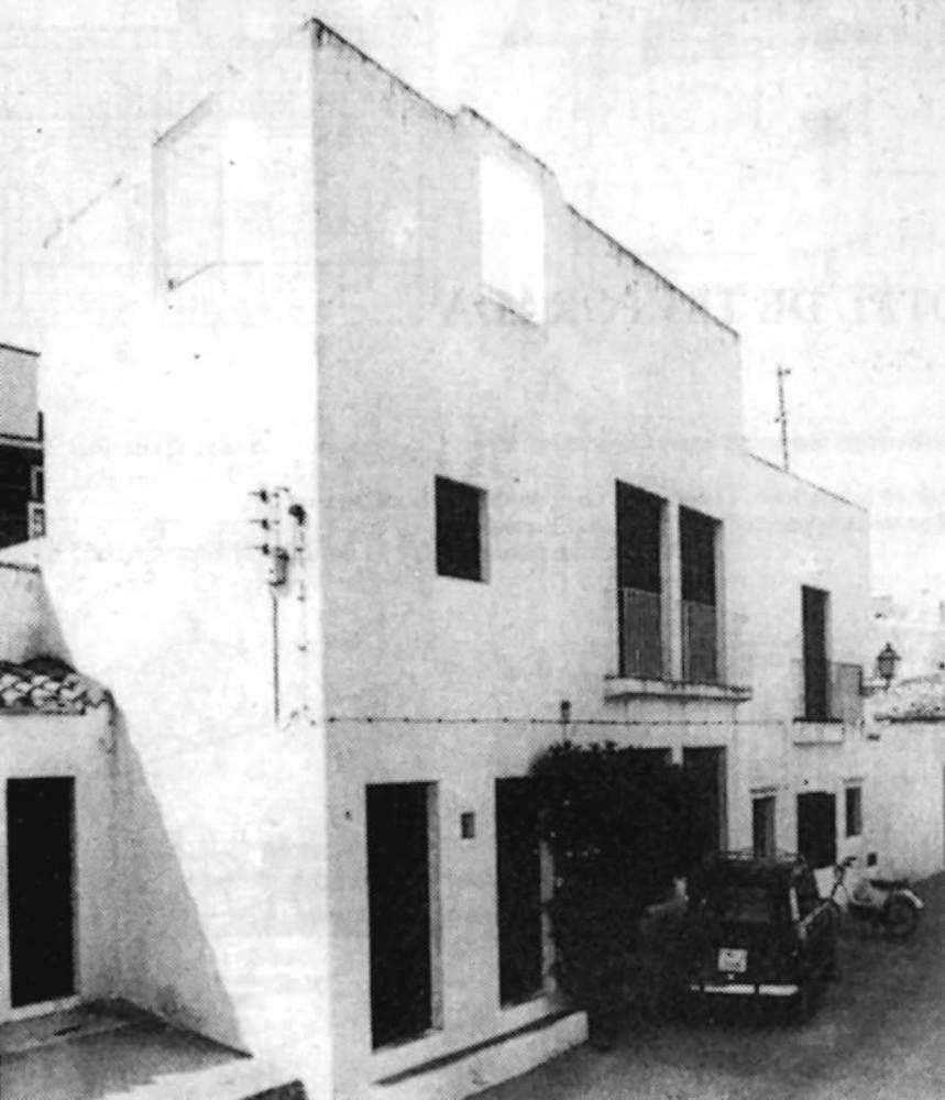 Arquitectura. Casa de Sert a Dalt Vila (1961). Extret d´<em>Arquitecturas en Ibiza</em>.