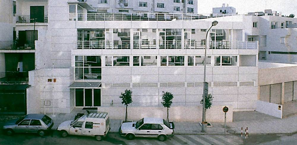 Arquitectura. Centre Insular de Sanitat (1991), D´A. Basterra, &Ograve;. Canal&iacute;s i C. Llin&agrave;s. Foto: extret de <em>D´A</em> 9.