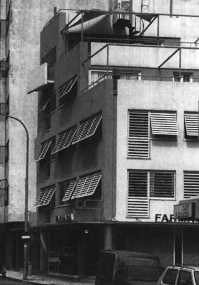 Arquitectura. Edifici Groc (1987), de Josep Torres i X. Planas. Foto: extret de <em>D´A</em> 7.