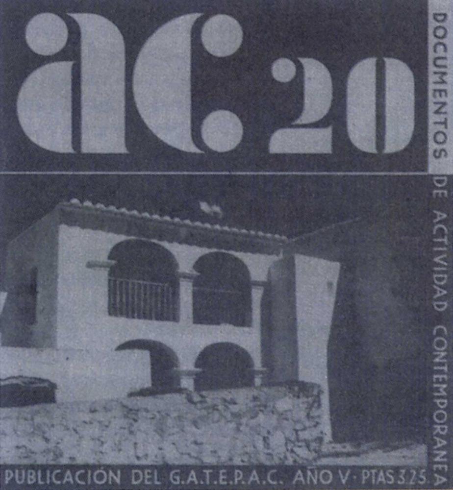 Art. Bocet de Will Faber per a una portada de la revista <em>AC</em> que havia d´incloure articles de Broner i Hausmann sobre arquitectura rural. No s´arribà a publicar mai i els articles aparegueren al número 21 de la revista.