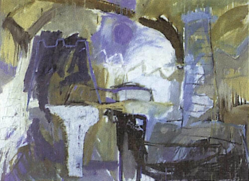 Art. <em>L´illa</em>, d´Enric Riera. Tècnica mixta. 97 x 129 cm.