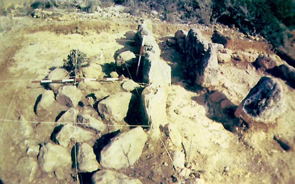 Edat del bronze. Sepulcre megalític de can Sergent I. Es veu clarament el passadís d´accés a l´interior. Foto: cortesia del Museu Arqueològic d´Eivissa i Formentera.
