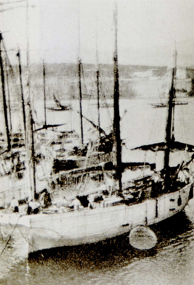 Cors. Un dels últims xabecs armats al port de Palma la darreria del s. XIX.