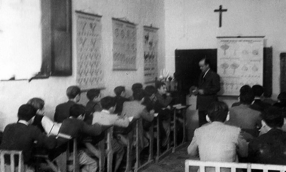 Una classe de ciències impartida a l´Institut Santa Maria. Foto: cortesia de l´IES Santa Maria.