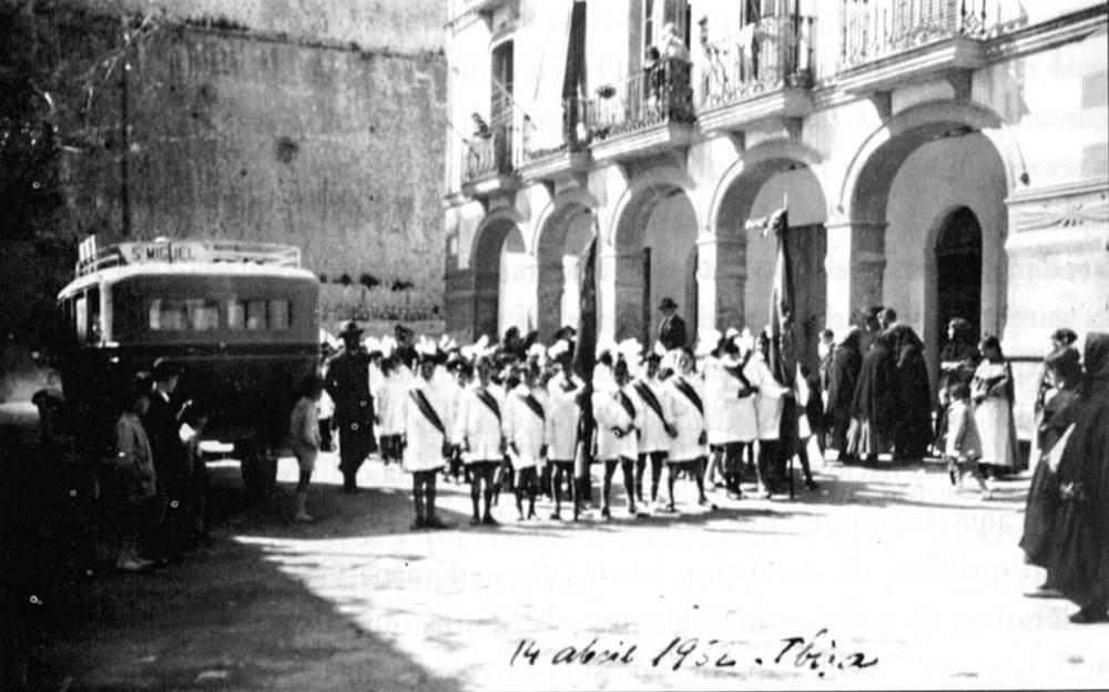 L´escola número 1 d´Eivissa, al carrer del comte de Rosselló. Foto: extret de <em>Joaquim Gadea Fernández, la vida d´un mestre</em>.