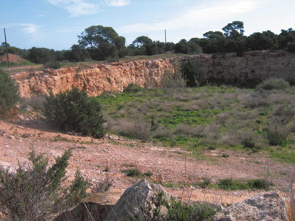 La pedrera de Can Rita, a l´illa de Formentera. Foto: Vicent Ferrer Mayans.