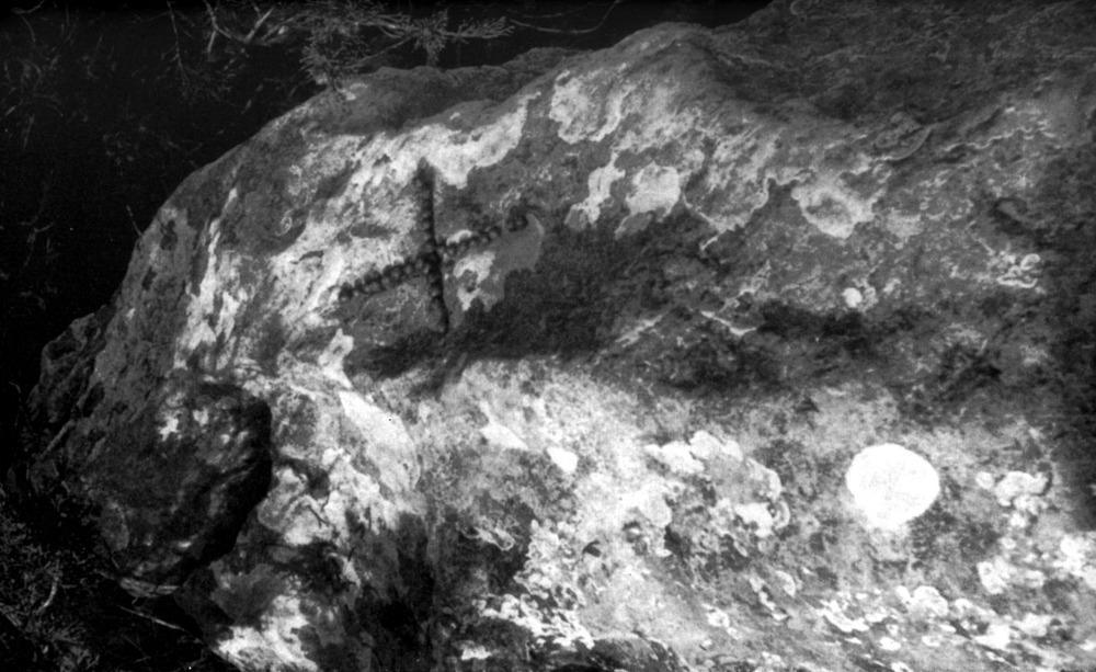 Quartó. La fita del puig Redó, en la divisòria entre Portmany i ses Salines. Foto: Joan Marí Cardona.