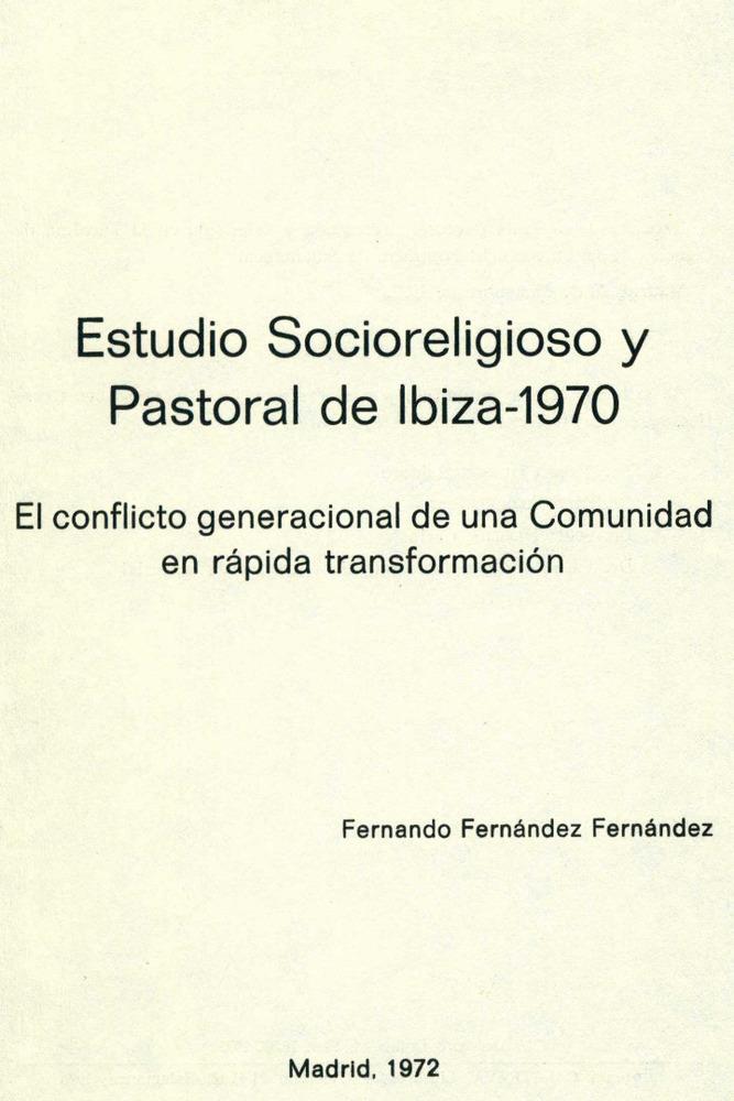 Sociologia. Portada de l´estudio socioreligiós publicat el 1970 per la Universitat Pontifícia de Salamanca.