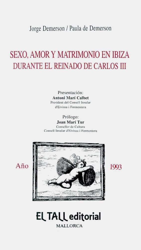 Sociologia. Portada de l´estudi historicosociològic de Jorge i Paula Demerson (1993).