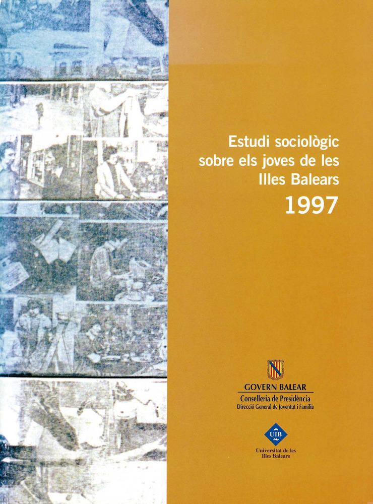 Sociologia. Portada de l´<em>Estudi sociol&ograve;gic sobre els joves de les Illes Balears</em> (1997) realitzat per la UIB.