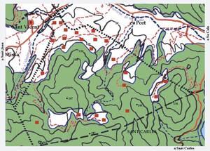 Mapa de la vénda de s´Àguila. Elaboració: Josep Antoni Prats Serra.