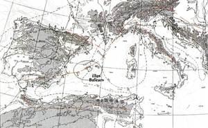 Àlpids. La línia vermella assenyala l´orogènia alpina al sud d´Europa i NO d´Àfrica. Aquesta línia continua fins a l´Himàlaia, cap a l´E.