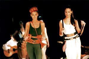 Una exhibició de models de la moda Adlib, l´any 1994. Foto: Joan Costa / <em>Diario de Ibiza</em>.