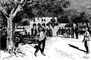L´Ajuntament de Santa Eulària ja era pràcticament com avui quan el veié Gaston Vuillier, a final del s. XIX.