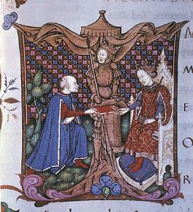 Alfons IV el Magnànim, segons una miniatura de Francisco Philenphus. Foto: cortesia de la Biblioteca de la Universitat de València.