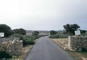 La tanca d´Allà Dins, a Formentera, vista des de l´entrada, a la carretera des Cap. Foto: Enric Ribes i Marí.