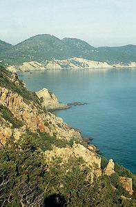 A la dreta de la imatge (part inferior) n´Alta, a la costa penyalosa de s´Albadar. Foto: Enric Ribes i Marí.
