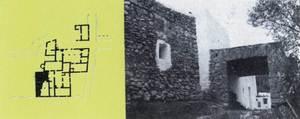 Can s´Alzina. Planta i fotografia de la casa. Extret de <em>Gu&iacute;a de arquitectura de Ibiza y Formentera</em>.