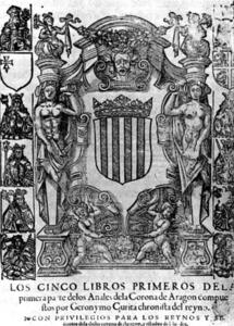 Portada dels <em>Anales de la Corona de Aragón</em>. Foto: cortesia de la <em>Gran Enciclopèdia Catalana</em>.
