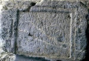 Làpida on apareix el nom d´Apol·linar.