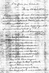 Un manuscrit de Jacint Aquenza i Loaiza. Foto: Arxiu d´Isidor Marí Mayans.
