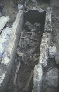 Enterrament del carrer d´Aragó, que correspon a l´etapa bizantina. Foto: Joan Ramon Torres.