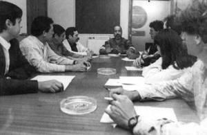 Una reunió de l´executiva de l´Associació de Concessionaris en Zona Marítimo-terrestre. Foto: Joan A. Riera / <em>Diario de Ibiza</em>.