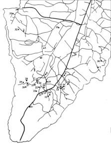 Cap de Barbaria. Mapa dels jaciments arqueològics. Elaboració: BCR.