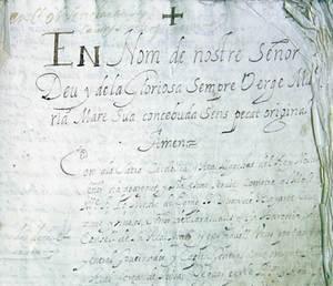 El governador Juan de Bayarte Calasanz y Ávalos dirigí la redacció de les Ordinacions de 1686. Fotografia d´una pàgina de les Ordinacions on apareix el seu nom. Foto: Ernest Prats Garcia.