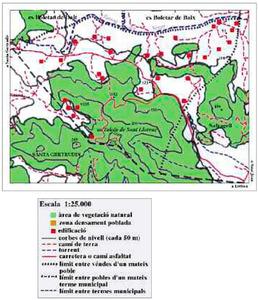 Mapa de la vénda de Bellmunt. Elaboració: Josep Antoni Prats Serra.