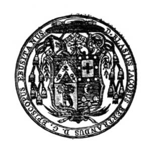Segell del bisbe Blas Jacobo Beltrán.
