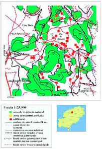 Mapa de la vénda de Besora. Elaboració: Josep Antoni Prats Serra.