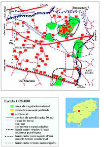 Mapa de la vénda des Bessons. Elaboració: Josep Antoni Prats Serra.
