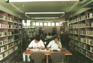 Sala de lectura de la Biblioteca Pública Insular de Cas Serres.