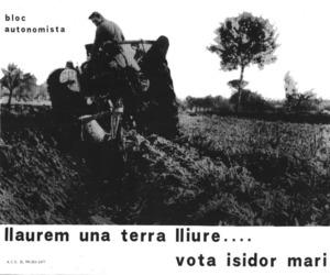 Cartell electoral del Bloc Autonomista.