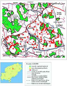 Mapa de les véndes des Boletar de Baix i de Dalt. Elaboració: Josep Antoni Prats Serra.