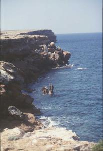 Es Bou, a la costa S de cala Saona, a Formentera. Foto: Enric Ribes i Marí.