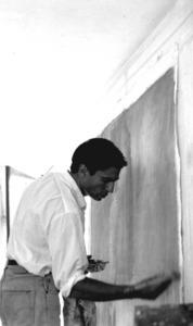 Michel Buades al seu estudi.