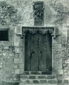 Imatge d´abans de la restauració de la Cúria. Foto: arxiu d´Antoni Mir.