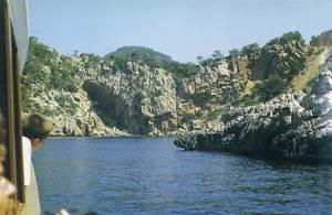 A la dreta de la imatge, la petita punta de Ca na Salada. Foto: Enric Ribes i Marí.
