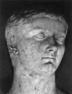 Un bust de l´emperador Cai Juli Cèsar Germànic Calígula.