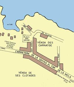 Plànol des Caló, a Formentera.