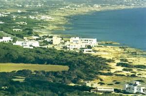 Panoràmica del nucli urbà i de la costa des Caló. Foto: Isidor Torres Cardona.