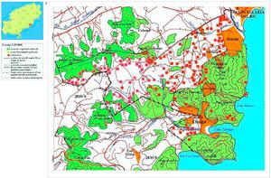 Mapa de la vénda de Cala Llonga. Elaboració: Josep Antoni Prats Serra.