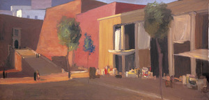 Vicent Calbet Riera. <em>Sense títol</em> (<em>c</em> 1965-1968), 89 x 179 cm. Col·lecció Rosa Torres.