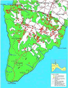 Mapa de la vénda des Cap de Barbaria. Elaboració: Josep Antoni Prats Serra.